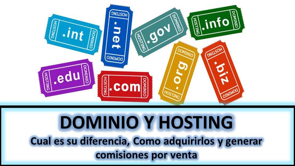Hosting y dominio que son y cual es su diferencia